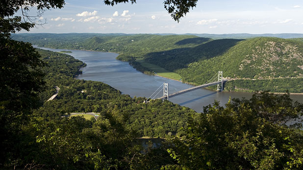 Bear Mountain Bridge from park