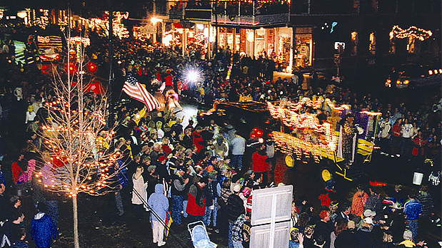 Ellicottville's Holiday Valley's Winter Carnival and Mardi Gras Parade