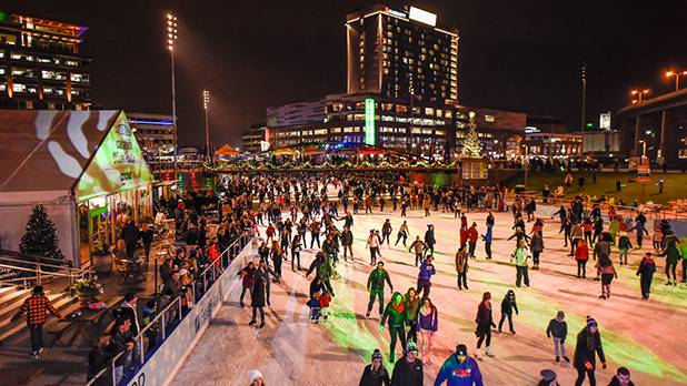 Ice at Canalside - Photo Courtesy of Visit Buffalo Niagara by Joe Cascio