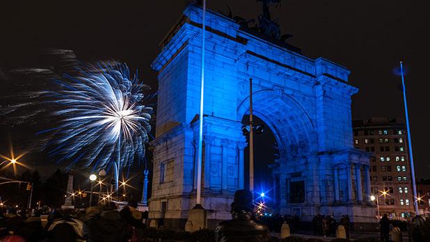 Fireworks in Prospect Park