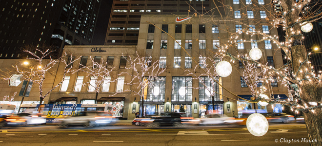 Chicago Guide Map To Holiday Shopping Along Magnificent Mile
