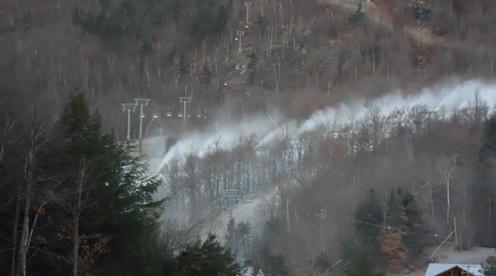 Snowmaking at Whiteface, from Mid-station down. Photos courtesy of Whiteface/ORDA.