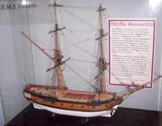 A scale model of the HMS Ontario