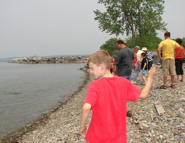 Mexico Point Park in Oswego County is a perfect place for young and old to skip stones, walk the beach, swim, and enjoy the beautiful expanse of Lake Ontario.