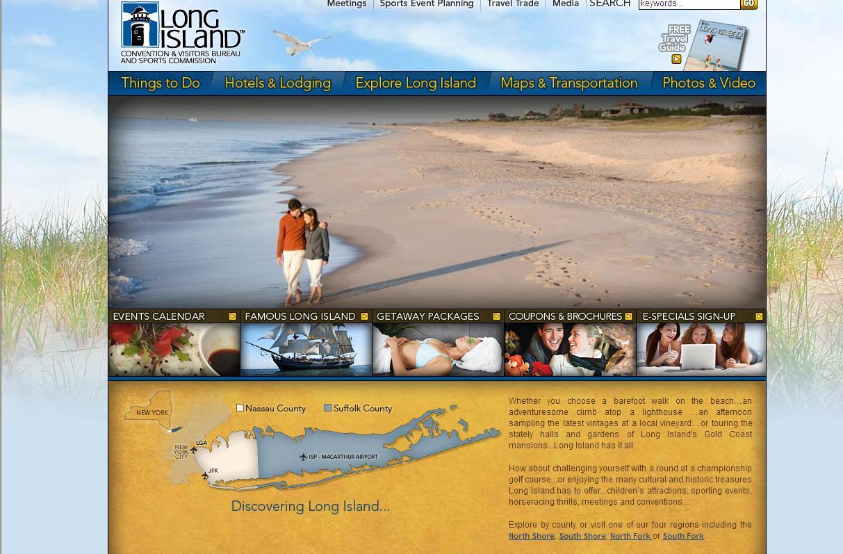Long Island Bureau.Visitors Bureau Re Launches Official Long Island Travel Website