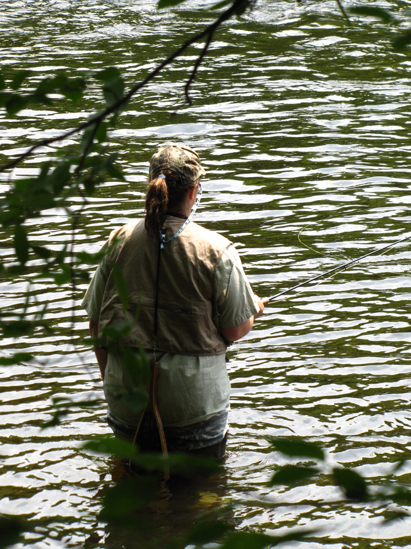 Trout Unlimited's women's fly fishing seminar offers the chance to learn fly fishing skills in a relaxed atmosphere on the Salmon River. Sponsored by the Tug Hill/Black River Chapter, the seminar takes place May 14 and 15 in Altmar. (Photo courtesy of Oswego County Tourism Office.)