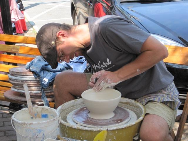 Skaneateles ceramics artist Jeremy Randall at Curbstone