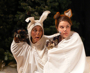 "Join the ""woodland animals"" in an interactive performance of The Mitten, a Ukrainian tall tale about a boy who loses his white mitten in the snow."