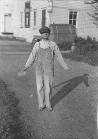 Worker at Hanford Mills, circa 1920. On June 1-2, Hanford Mills Museum will hold a History at Work Weekend, giving visitors a firsthand view of the work it took to run a mill. A century ago, mills were a mainstay of rural communities.