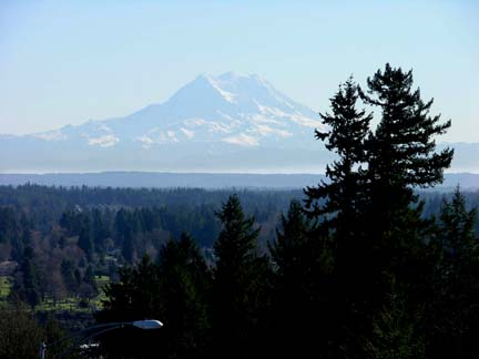 View of Mt. Rainier from City of Tumwater Overlook Park