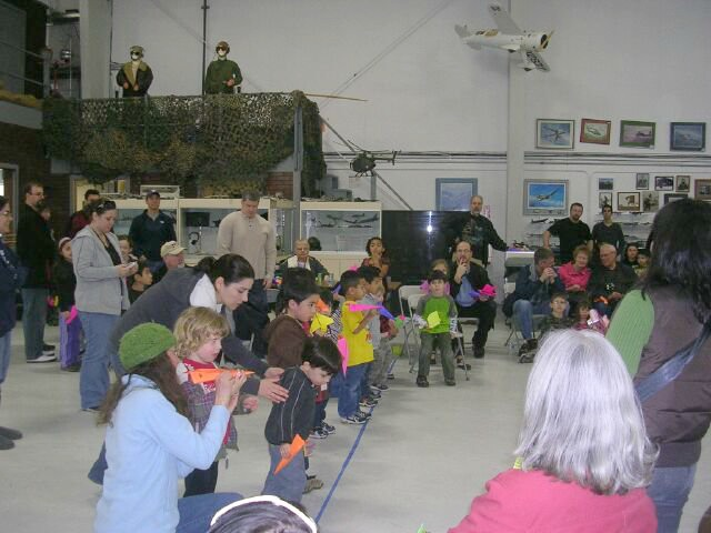 Paper airplane flight school credit Olympic Flight Museum FB