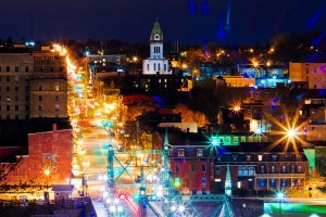 City of Easton Pennsylvania at Night