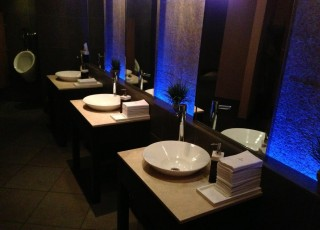 melt in center valley fancy schmancy is the name of the game at melt melts upscale bathrooms keep the upscale dining feel without over doing it