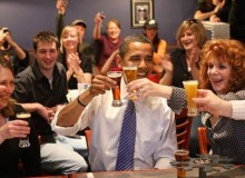 Barack Obama at BrewWorks