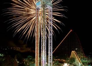 Fireworks over Dorney Park