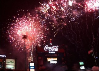 Fireworks at Coca-Cola Park