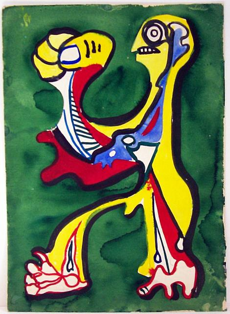Yellow Creature with Fist, 1936-39, gouache and watercolor. © Estate of William Baziotes