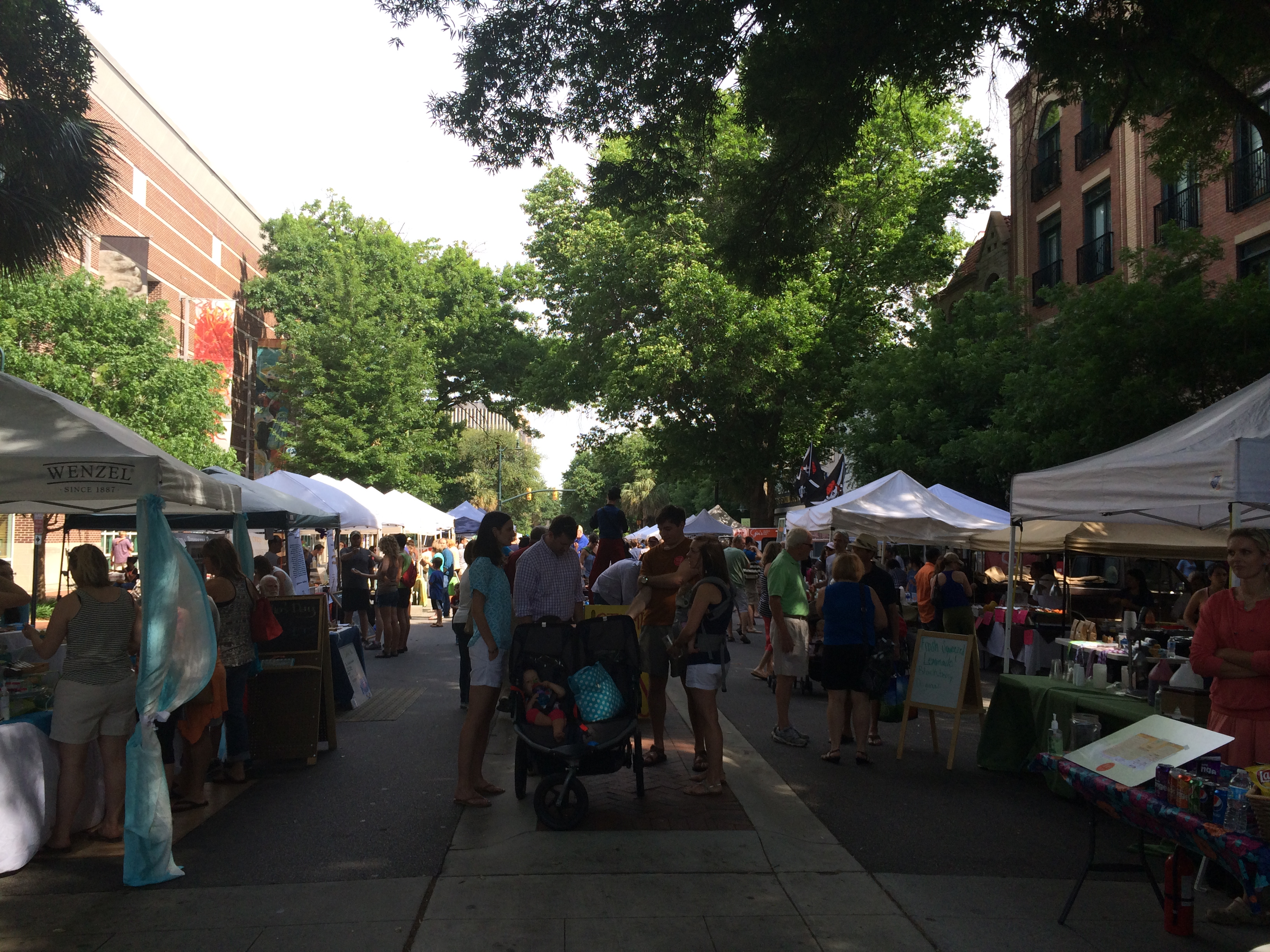 Soda City Market on Main Street in downtown Columbia, SC