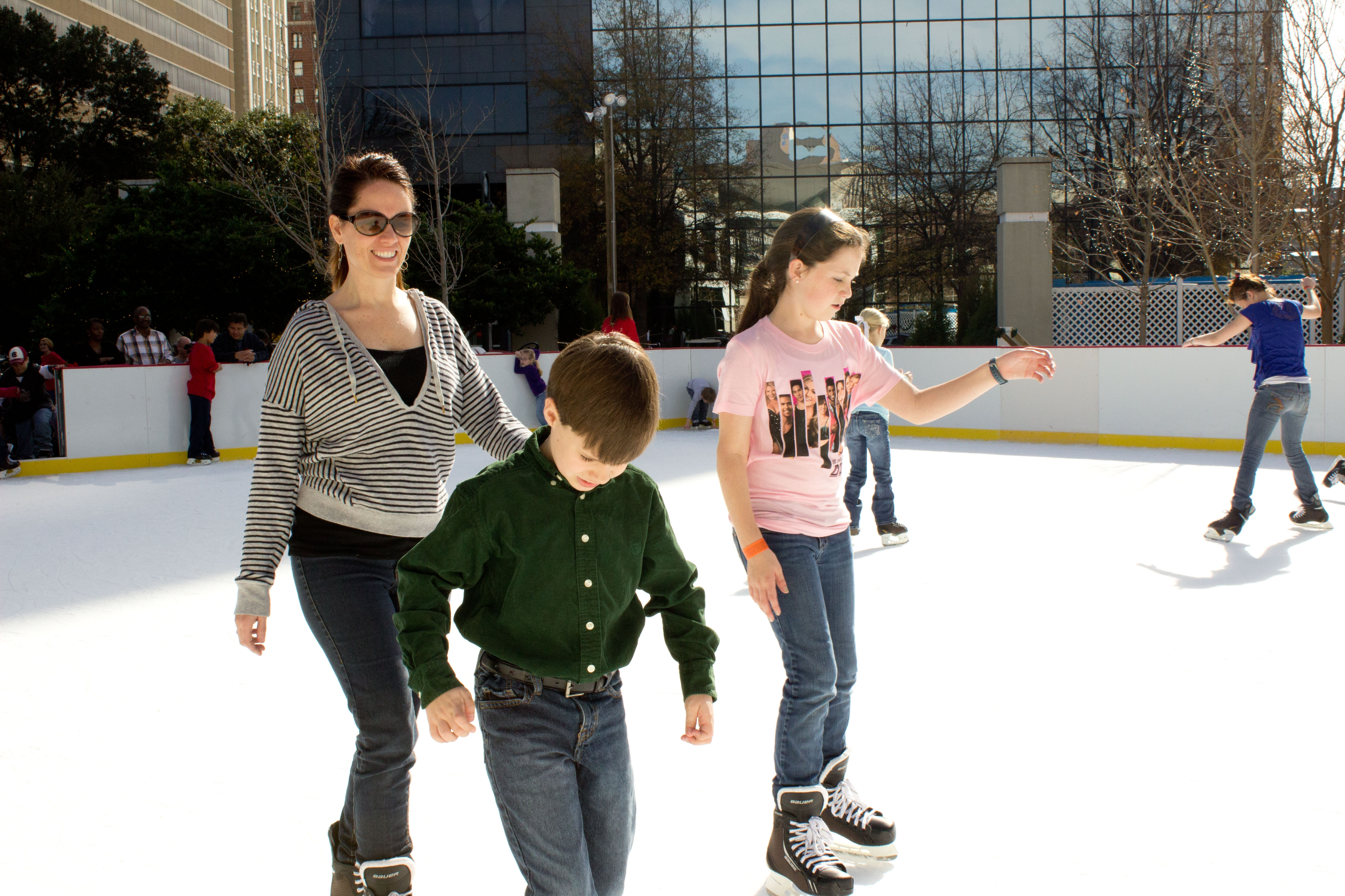 Outdoor skating at Main Street Ice on Boyd Plaza in Columbia, SC