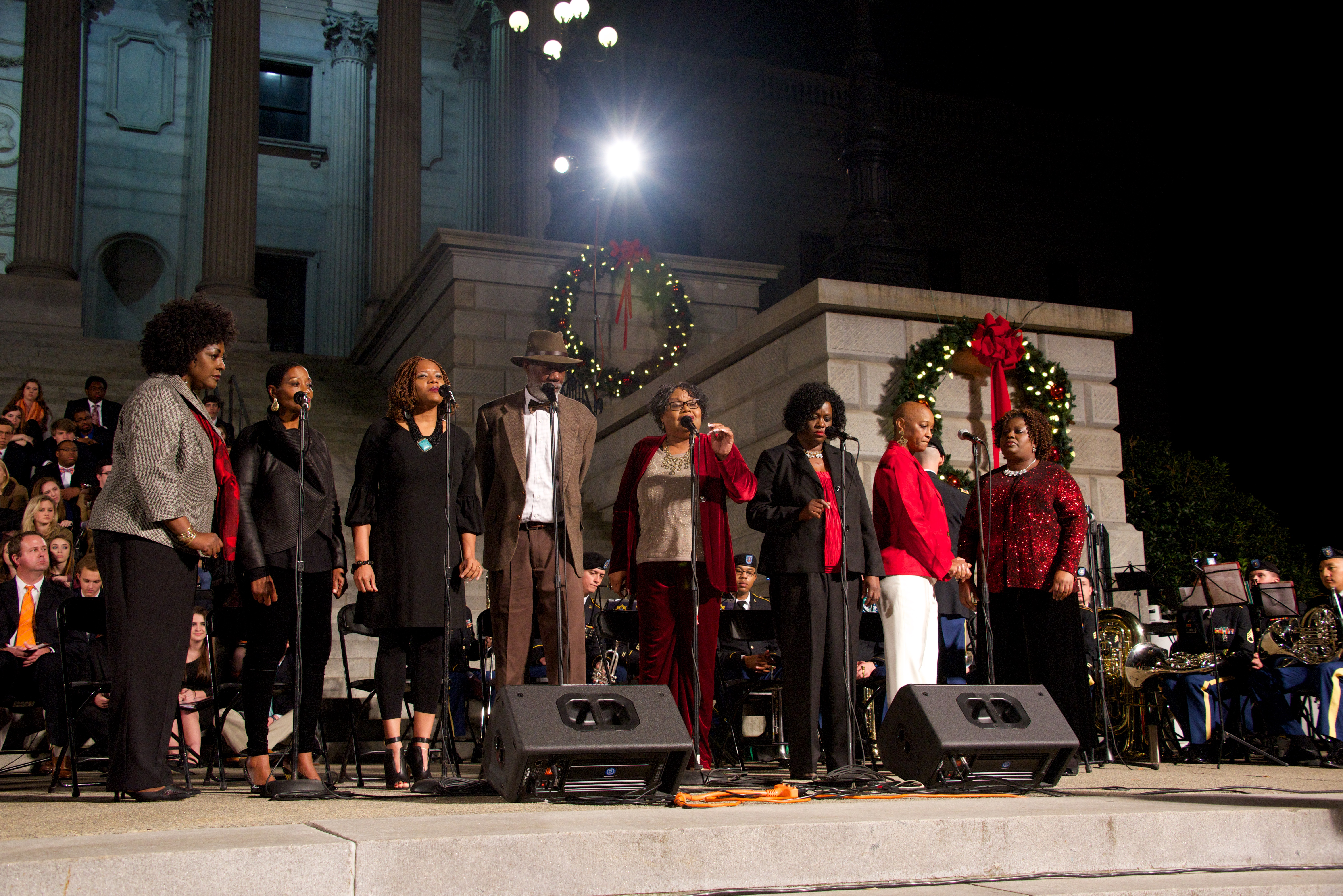 South Carolina Governor's Carolighting at the South Carolina State House in Columbia, SC