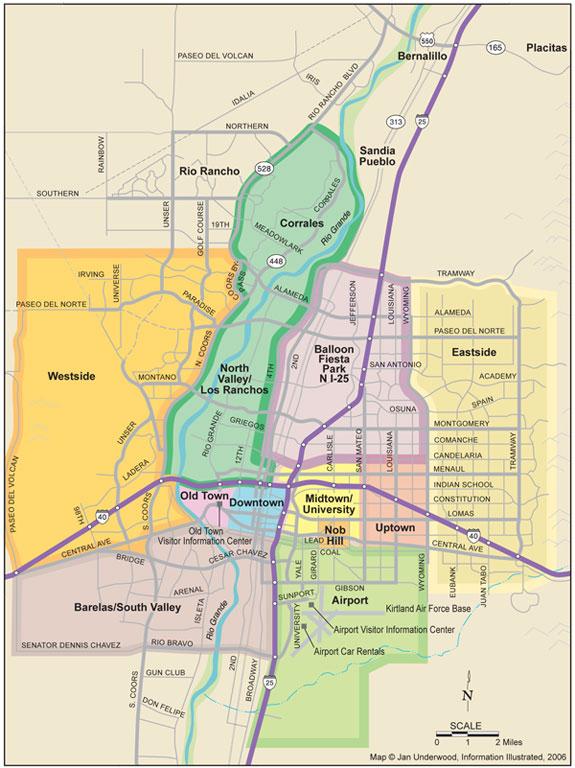 Map Of Albuquerque Nm Albuquerque Map   Albuquerque NM Map
