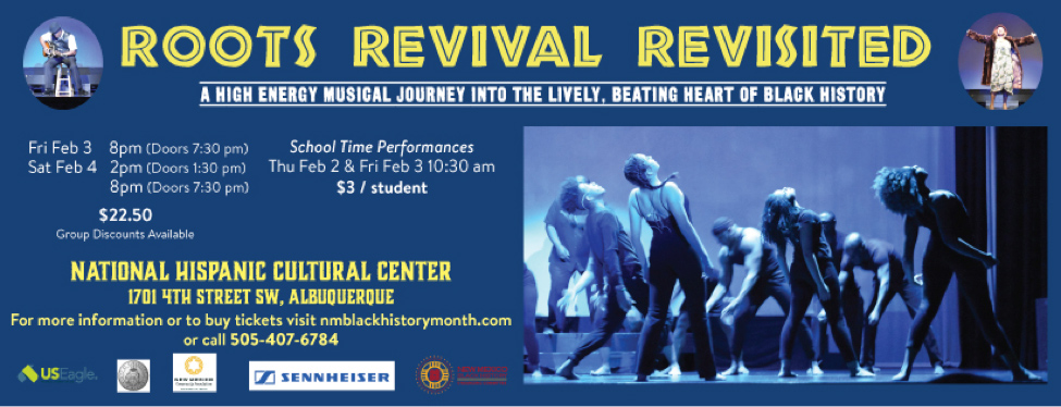 Roots Revival Revisited performance during the Black History Month Festival in Albuquerque, New Mexico
