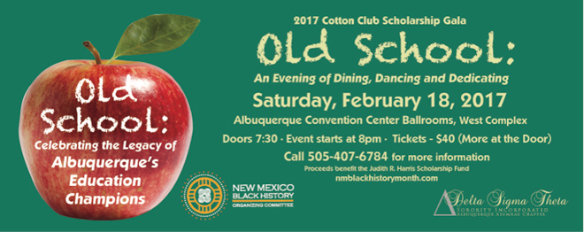 Old School Cotton Club Scholarship Gala during the Black History Month Festival in Albuquerque, New Mexico