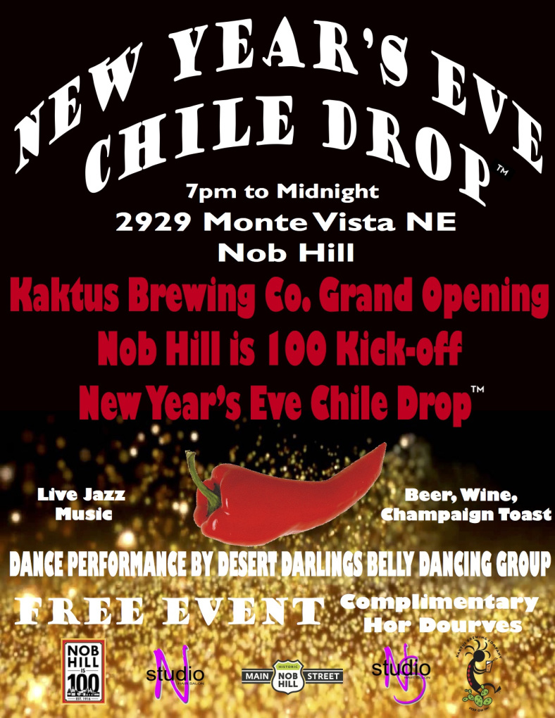 New Year's Eve 2017 in Albuquerque at the Nob Hill Chile Drop