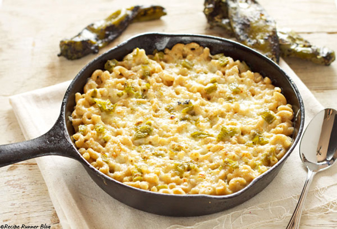 New Mexican green chile macaroni and cheese