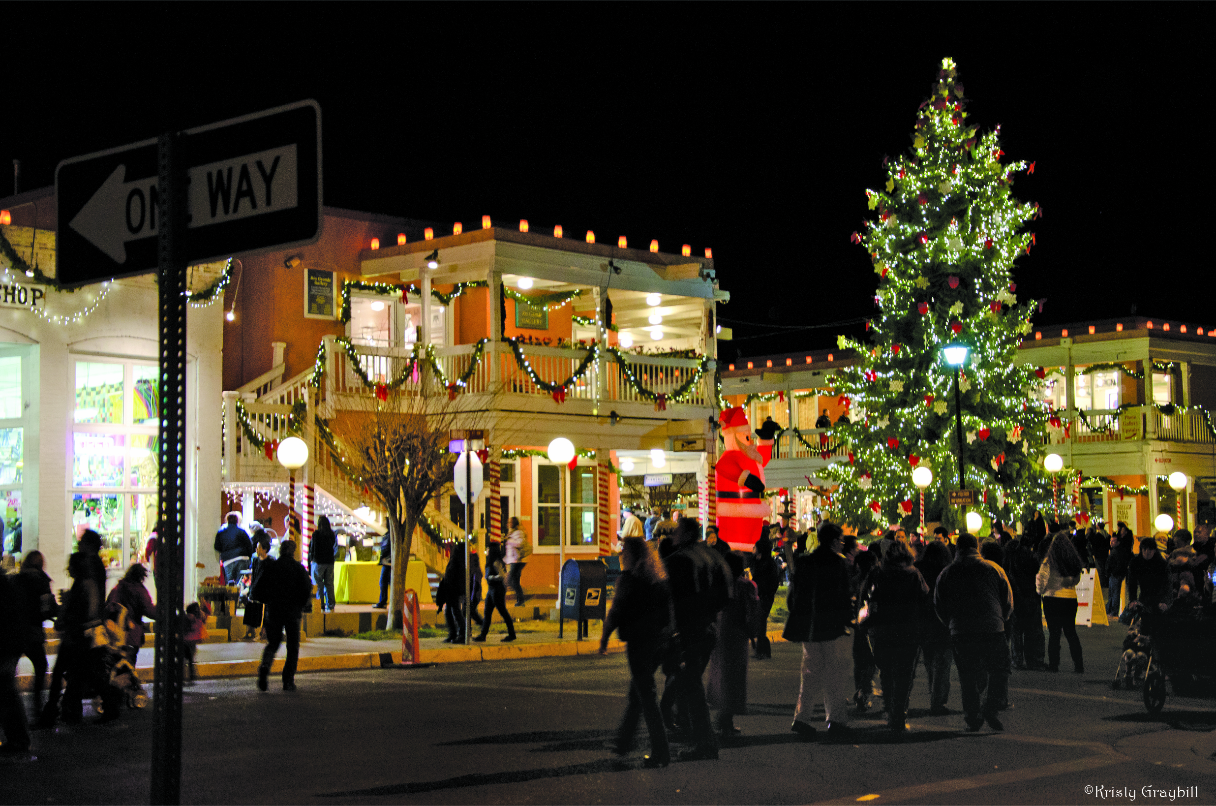 Old Town Holiday Stroll in Albuquerque, New Mexico
