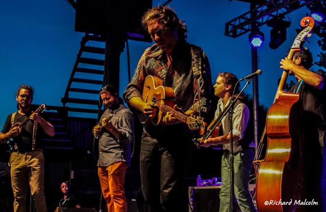Hungarian band Sondorgo performing at Globalquerque in Albuquerque, New Mexico