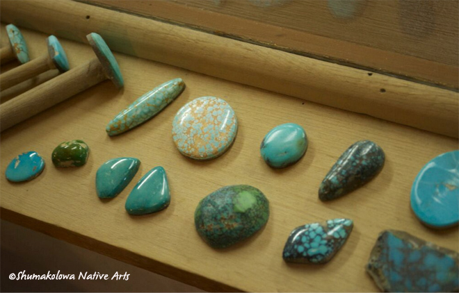 Blue and green turquoise in Albuquerque