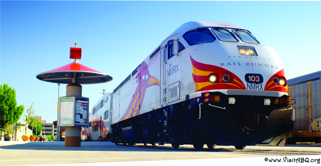 New Mexico Rail Runner express train in Albuquerque