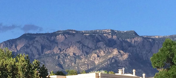 Sandia Mountains in Albuquerque