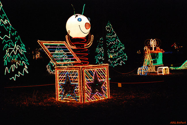 River Of Lights Snowman - ©ABQ BioPark
