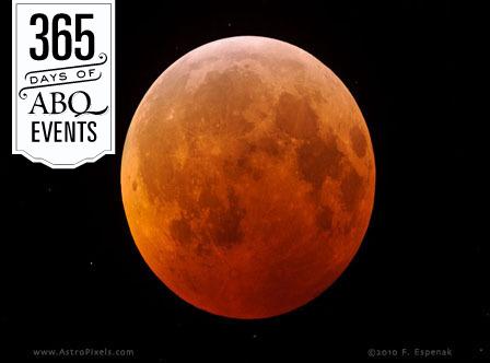 Total Lunar Eclipse Viewing - VisitAlbuquerque.org