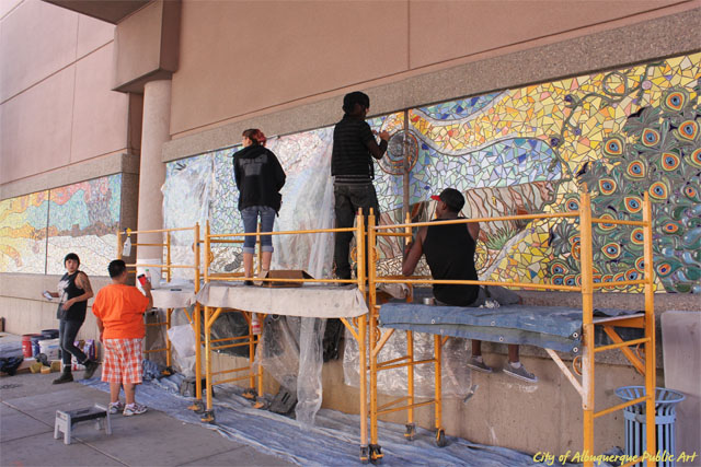 Students working on mural project - City of Albuquerque Public Art