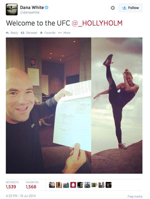 Holly Holm/Dana White Twitter
