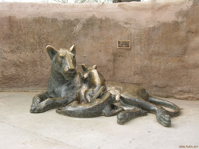 Bronze Lion - City of Albuquerque Public Art
