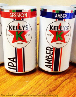 Kelly's new cans - courtesy of the Mother Road Mobile Canning Facebook page
