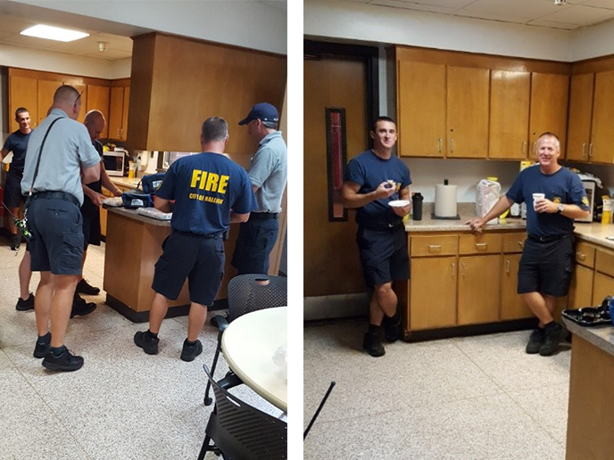 Holiday Inn Express and Suites Raleigh SW near NC State at Fire Fighter Station #20 B-Platoon