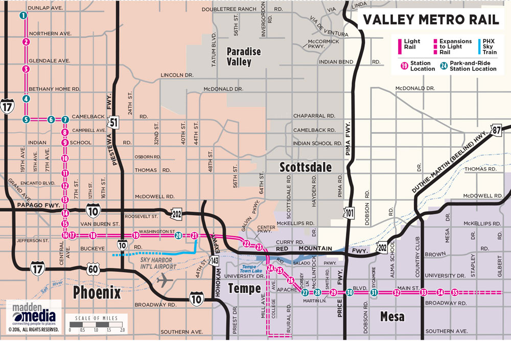 A Map Of Phoenix Arizona.Phoenix Public Transportation Visitphoenix Com
