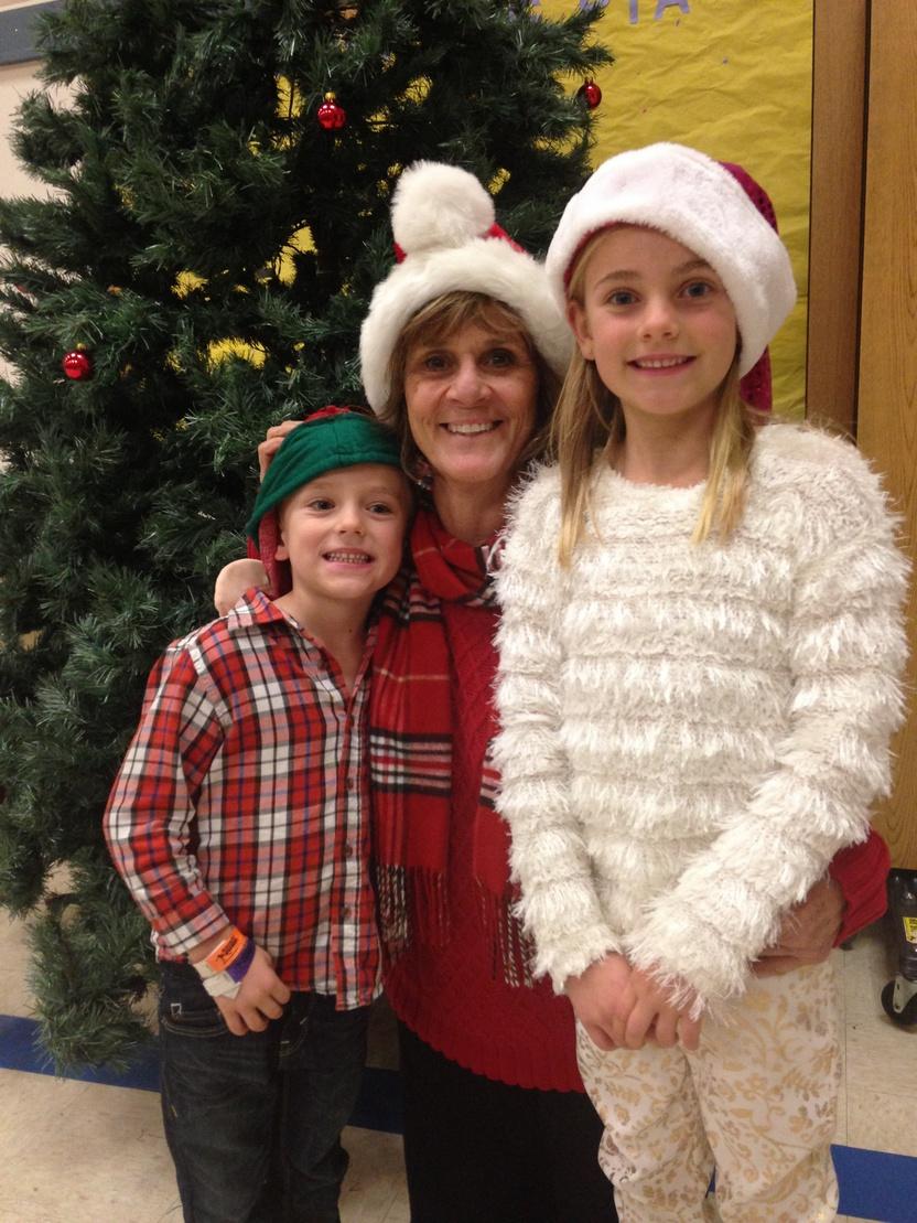 Patty Daffurn with her grandchildren