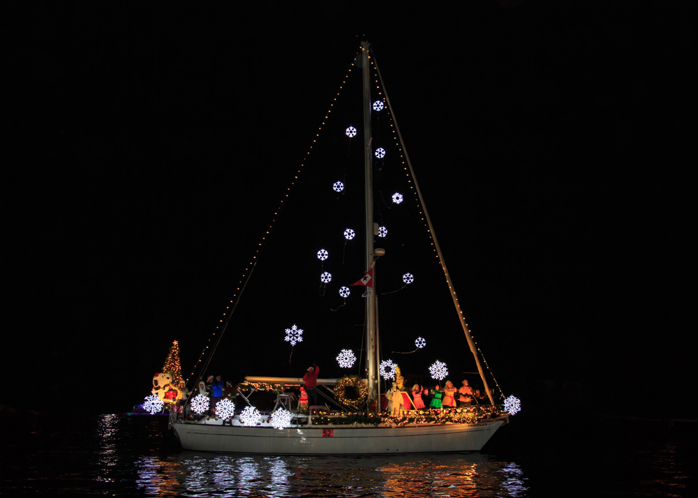 Newport Beach Christmas Boat Parade Sailboat