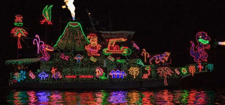 Newport Beach Christmas Boat Parade Volcano