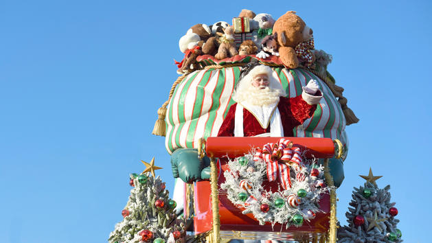 Santa on Parade Float