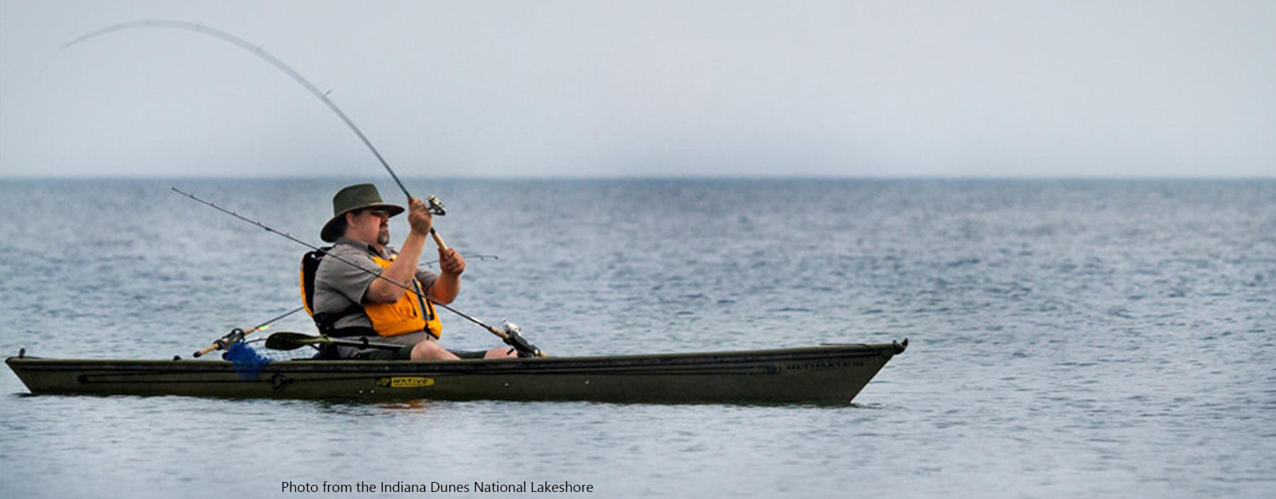 Fishing at the indiana dunes | lake michigan fishing.