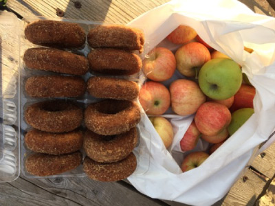 Apples and doughnuts - County Line Orchard