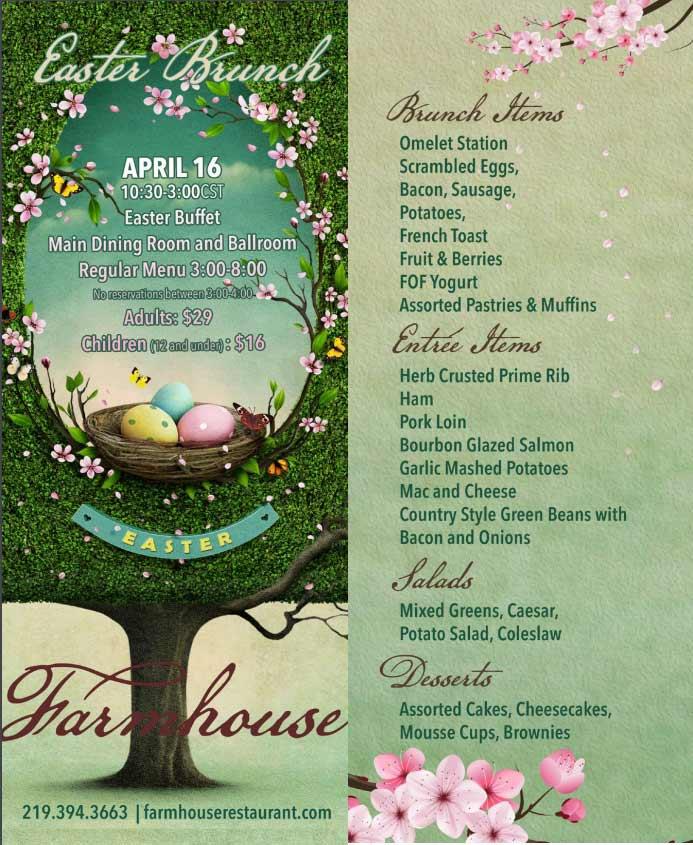Farmhouse Restaurant Easter Brunch