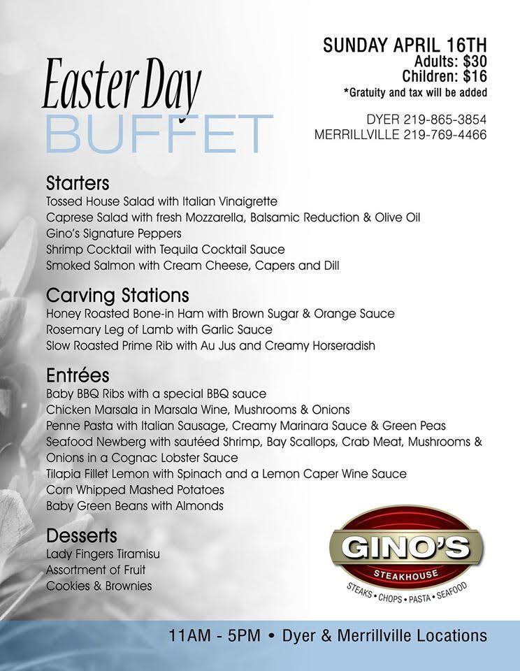 Gino's Steakhouse Easter Brunch